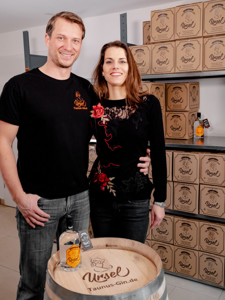 Roland Braza of Taunus Gin GmbH with his wife.