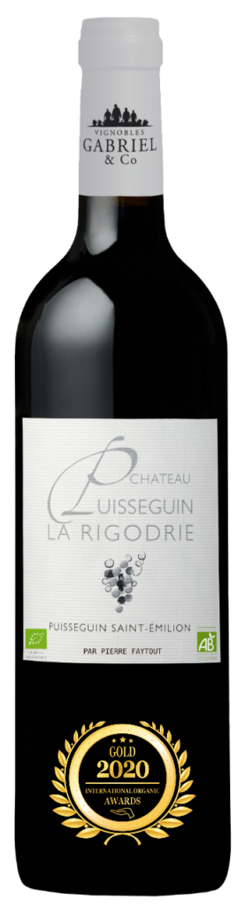 CHATEAU PUISSEGUIN LA RIGODRIE - PUISSEGUIN SAINT EMILION - 2018 - ROUGE has received a Gold Award in International Organic Awards 2020.