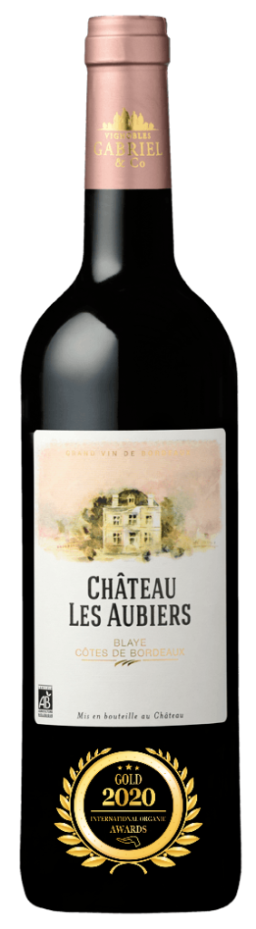 CHATEAU LES AUBIERS - BLAYE COTES DE BORDEAUX - 2018 - ROUGE has received a Gold Award in International Organic Awards 2020