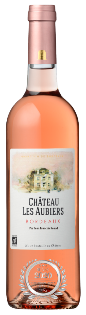 CHATEAU LES AUBIERS - BORDEAUX - 2019 - ROSE has received a Silver Award in International Organic Awards 2020.
