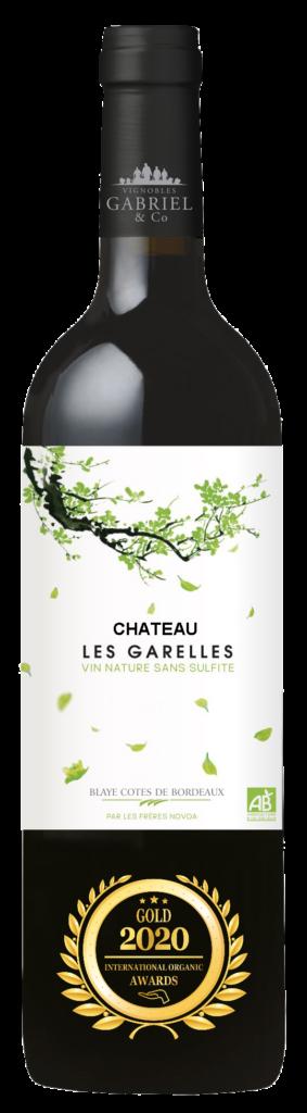 CHATEAU LES GARELLES - BLAYE COTES DE BORDEAUX - 2019 - ROUGE has received a Gold Award in International Organic Awards 2020.