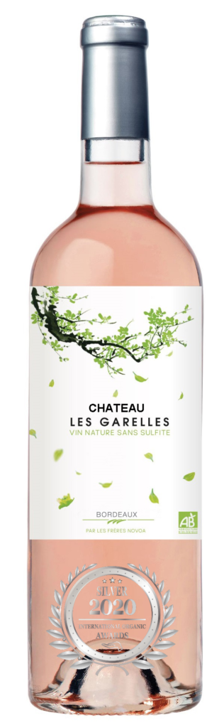 CHATEAU LES GARELLES - BORDEAUX - 2019 - ROSE has received a Silver Award in International Organic Awards 2020.