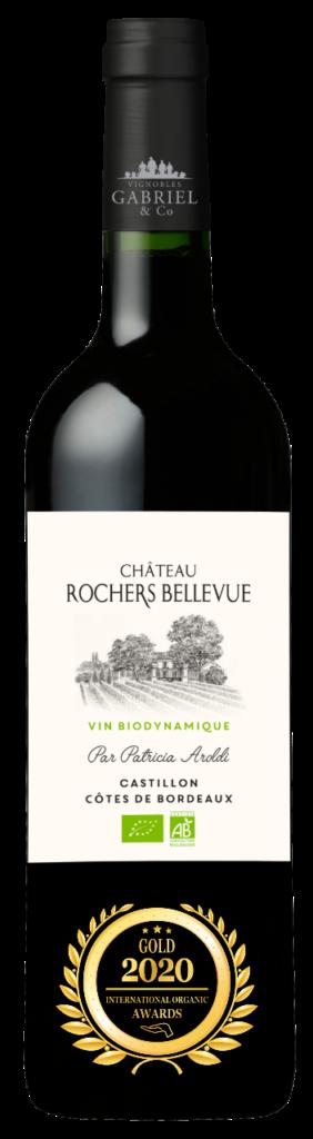 CHATEAU ROCHERS BELLEVUE - CASTILLON COTES DE BORDEAUX - 2018 - ROUGE has received a Gold Award in International Organic Awards 2020.