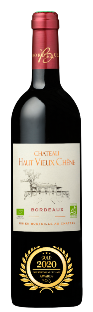 CHATEAU HAUT VIEUX CHENE - BORDEAUX - 2019 - ROUGE has received a Gold Award in International Organic Awards 2020.