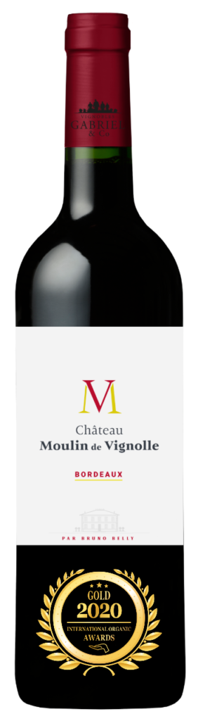 CHATEAU MOULIN DE VIGNOLLE - BORDEAUX - 2019 - ROUGE has received a Gold Award in International Organic Awards 2020.