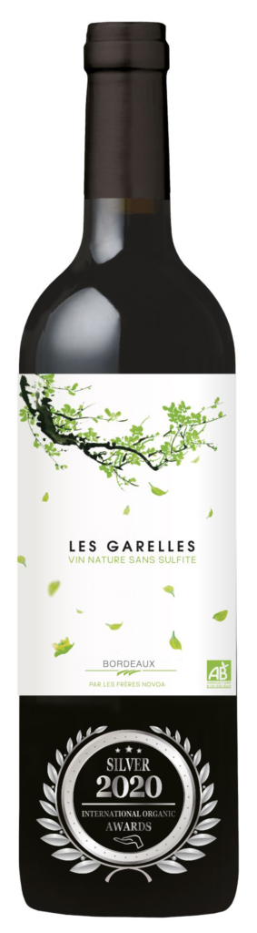 LES GARELLES - BORDEAUX - 2019 - ROUGE has received a Silver Award in International Organic Awards 2020.