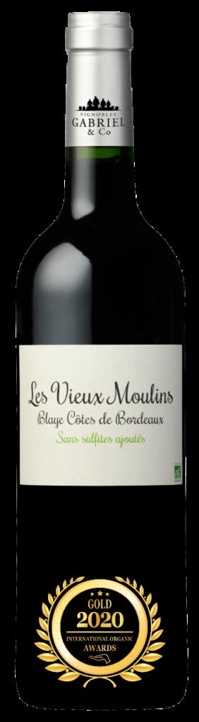 LES VIEUX MOULINS - BLAYE COTES DE BORDEAUX - 2019 - ROUGE has received a Gold Award in International Organic Awards 2020.