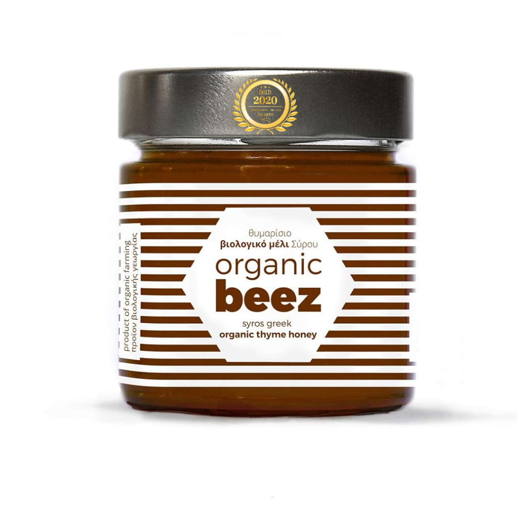 Organic Beez Thyme Honey has received a Gold Award in International Organic Awards 2020, awarded by Organic Newspaper.