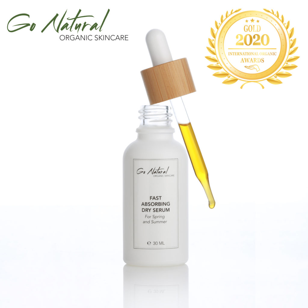 Rejuvenating Day Serum For Spring and Summer has received a Gold Award in International Organic Awards 2020 at Organic Newspaper.