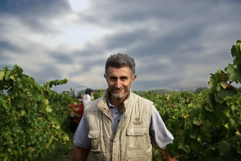 Michel Gassier, the owner and winemaker of Famille Gassier at Organic Newspaper.